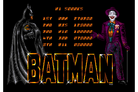 Batman The Movie (Amiga Emulated) high score by ransom