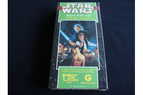 RETURN OF THE JEDI MOVIE SET STAR WARS MINIATURES WEST END ...