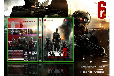 Tom Clancy's Rainbow Six: Patriots Xbox 360 Box Art Cover ...
