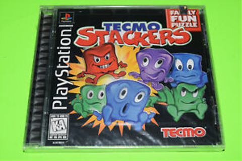 NEW Tecmo Stackers Playstation 1 PSX Factory Sealed Puzzle ...