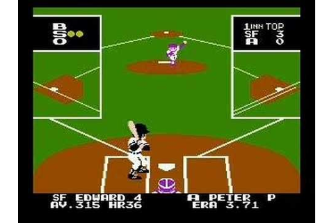 Bad News Baseball (1990 - NES) | Classic video games ...