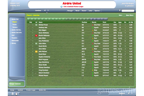 Football Manager 2005 Download - Games4Win