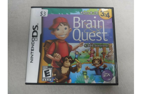 Brain Quest Grades 3 & 4 Nintendo DS Video Game Complete ...