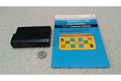 TI-99 4A computer cartridge & manual 'Tombstone City: 21st ...