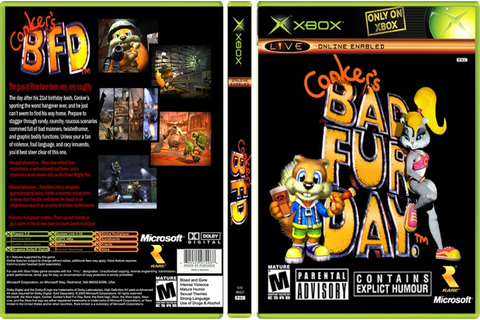 Conker Live and Reloaded Xbox Box Art Cover by nyan