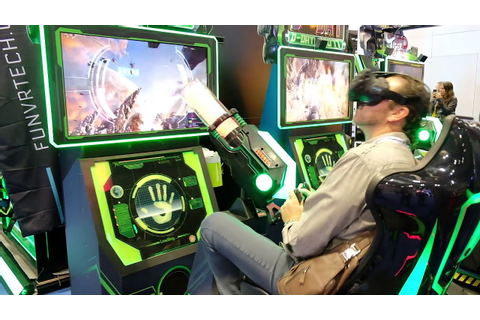 "Virtual Reality ""D-DAY 2077"" video game at IAAPA 2017 ..."