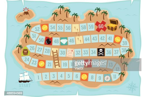 Treasure Island Board Game Vector Art | Getty Images