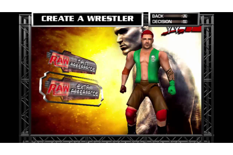 How to Create A Superstar in WWE RAW 2!!! - YouTube