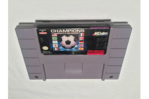Champions World Class Soccer (Super Nintendo SNES) Game ...