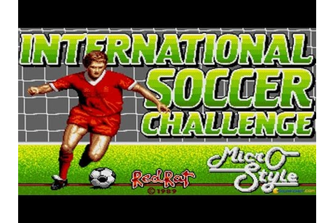 International Soccer Challenge gameplay (PC Game, 1990 ...