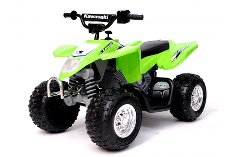 Kawasaki Electric Quad Bike Kids 12v ATV Ride On Car Boys ...