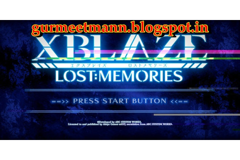XBlaze Lost: Memories | Download Full Version Free PC Game ...