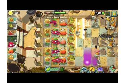 Plants vs Zombies 2 Pyramid of Doom (1-10) - YouTube