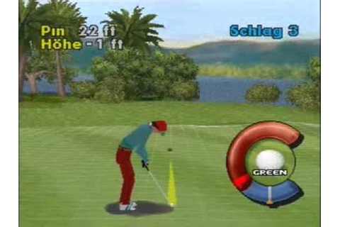 Actua Golf (Playstation 1) German Language PART 1 - YouTube