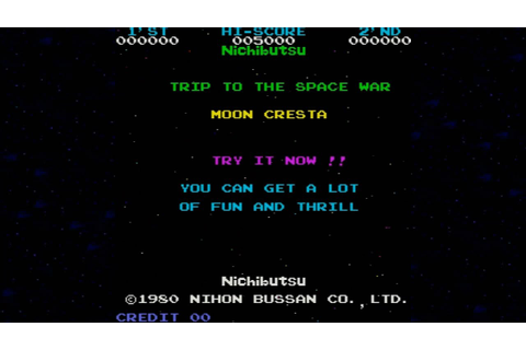 Moon Cresta 1980 Nichibutsu Mame Retro Arcade Games - YouTube