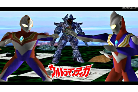 Ultraman Tiga & Ultraman Dyna PS1 -Story Mode- (Tiga ...
