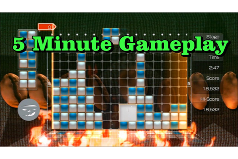 5 Min Gameplay: Lumines Supernova (PS3) - YouTube