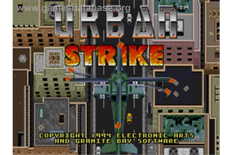 Urban Strike - Sega Nomad - Games Database