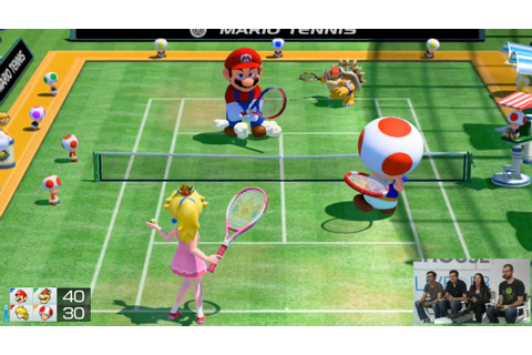 Mario Tennis: Ultra Smash Mega Battle doubles move Bowser Peach Toad
