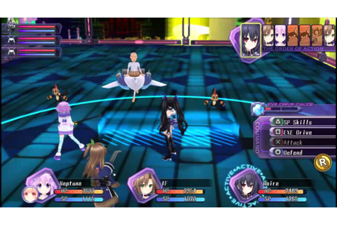 Hyperdimension Neptunia Re;Birth 1 Vita Gameplay - YouTube