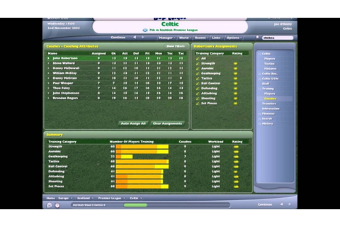 Football Manager 2006 PC 2005 Gameplay - YouTube