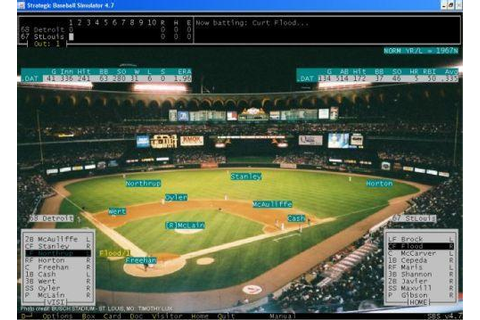 Strategic Baseball Simulator SBS (Windows PC) Freeware