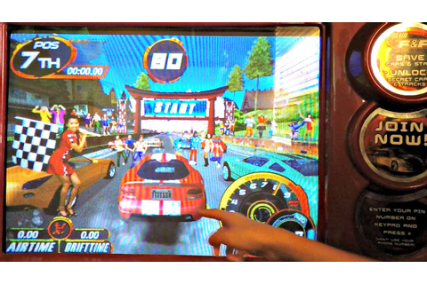 The Fast And The Furious Drift Arcade Game Video Gameplay ...