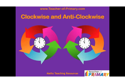 Clockwise and Anti Clockwise - Teaching Resource - YouTube