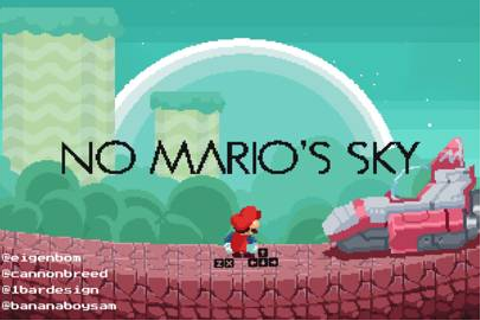 Play No Mario's Sky game in which Super Mario meets No Man ...