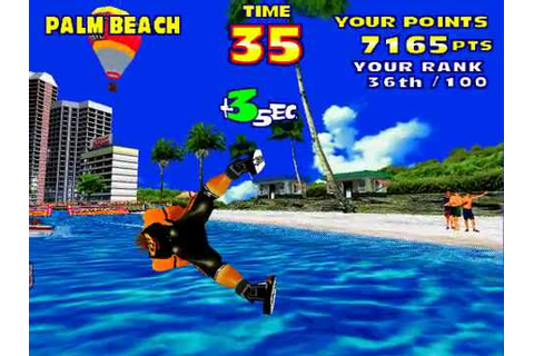 Model 2 Emulator SEGA Water Ski Gameplay (Beginner) - YouTube