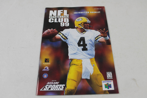 Manual - Nfl Quarterback Club 99 - Nintendo N64