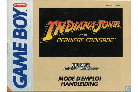 Indiana Jones et la Derniere Croisade - Nintendo Game Boy ...