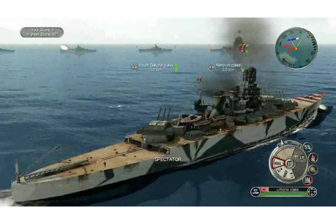Battlestations Pacific new battleships - YouTube