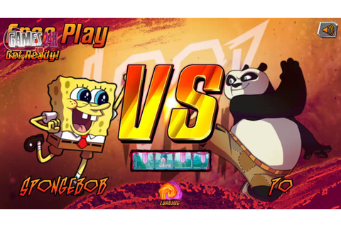 Po (Kungfu Panda) VS Spongebob - Video Game for Kids - YouTube