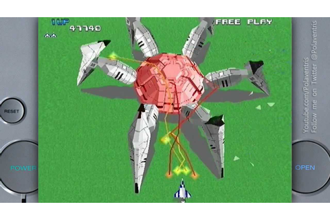 Xevious 3D/G+ on a Sony Playstation 1 - YouTube