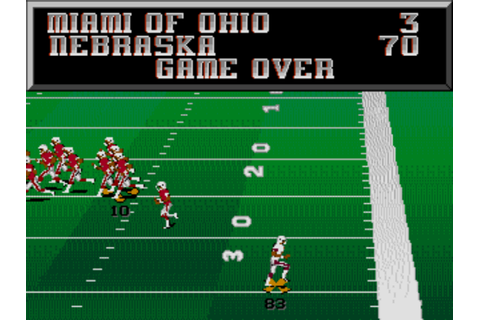 College Football USA '96 - Sega Genesis - Score Board