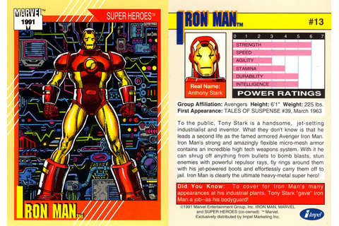 Marvel Trading Card Gallery! | The Unspoken Decade: 90's ...