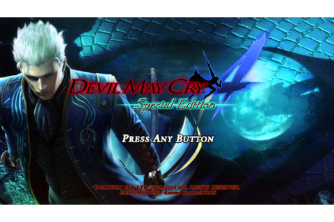 Devil May Cry 4 Special Edition [Vergil] Title Screen ...