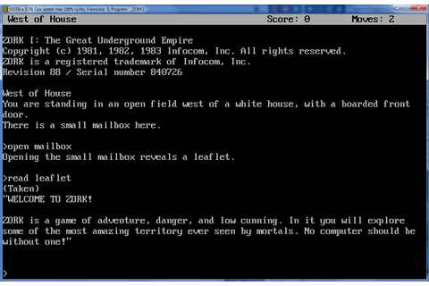 GreatBitBlog: So... Zork...