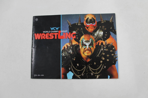 Manual - Wcw World Championship Wrestling - Nes Nintendo