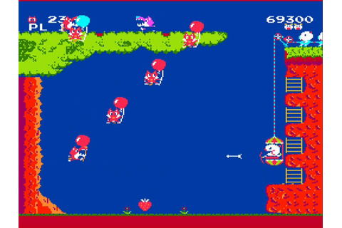 Old-School Gaming - Gameplay Footage #1 - Pooyan (Famicom ...