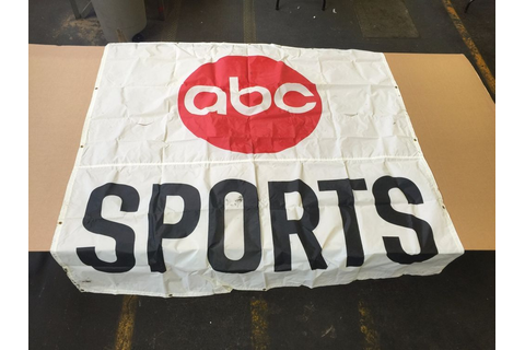 "ABC WIDE WORLD OF SPORTS BANNER 75"" X 75"" INDY 500 IROC ..."