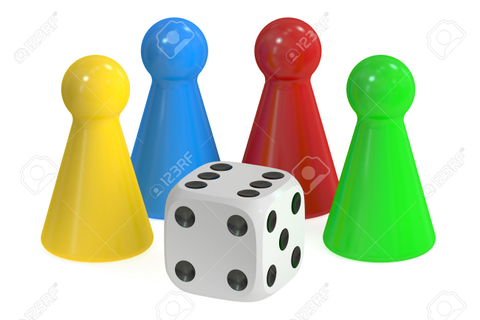 clipart dice and game pieces - Clipground
