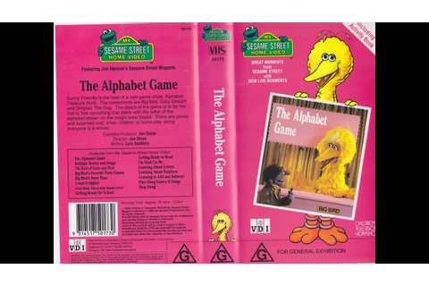 My Sesame Street Home Video The Alphabet Game - YouTube