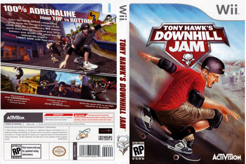 Tony Hawks Downhill Jam - Nintendo Wii Game Covers - Tony ...