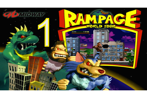 Rampage World Tour - Part 1 - Classic PS1 Arcade Video ...