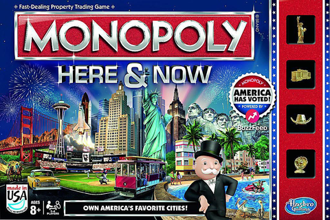 Monopoly Here & Now - U.S. Board Game Changes
