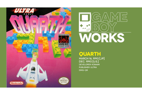 Game Boy World #034: Quarth [Konami/Ultra, 1990] - YouTube
