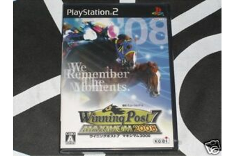 Playstation 2 PS2 Import New Game Winning Post 7 Maximum ...