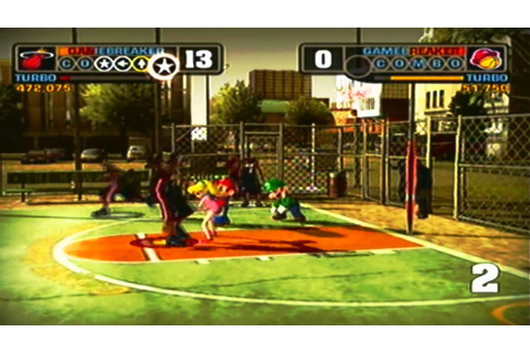 NBA Street v3: Miami Heat vs Mario All Stars - YouTube